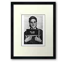 The King of Rock is Death Framed Print