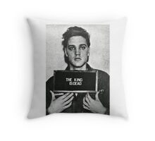 The King of Rock is Death Throw Pillow
