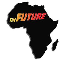 Africa - The future (Black) Photographic Print
