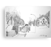 Winter Locks, Ottawa 1971 Canvas Print