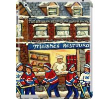 MOISHE'S RESTAURANT MONTREAL AND HOCKEY GAME PAINTINGS iPad Case/Skin
