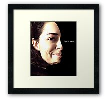 Tony - Orphan Black - one of a kind Framed Print
