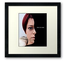 Katja - Orphan Black - one of a kind Framed Print