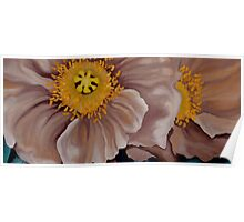 Poppies in Brown Poster