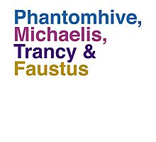 Phantomhive, Michaelis, Trancy & Faustus Photographic Print