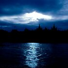 London - The River Thames by MidnightRunner