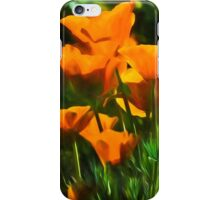 Brilliant Orange California Poppies - Impressions of Desert Spring iPhone Case/Skin