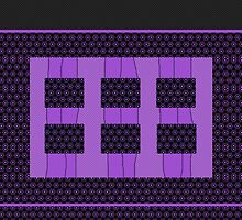 Royal Purple, modern textiles design, geometric by ackelly4