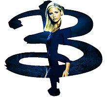 B - Buffy dark Blue Photographic Print