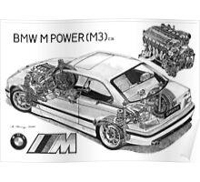 BMW M3 (e36) Cutaway Poster