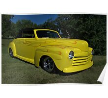 1946 Ford Convertible Custom Poster