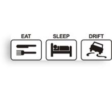 EAT SLEEP DRIFT Canvas Print