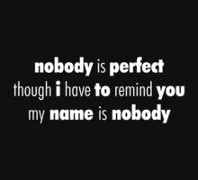 Nobody (White) by hynek