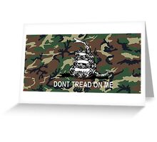 Camo Dont Tread On Me Gadsden Flag Camouflage Greeting Card