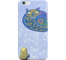 Alice and the Cheshire Paisley iPhone Case/Skin