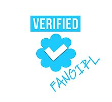 Verified Fangirl Photographic Print