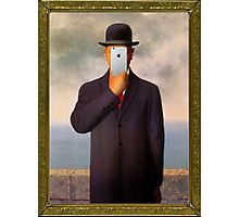 Man with Apple Photographic Print