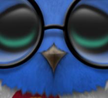 Nerdy Colorado Baby Owl on a Branch Sticker