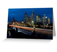 Melbourne Rush Hour Greeting Card