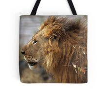 Profile Portrait, Large Male Lion #2, Maasai Mara, Kenya  Tote Bag