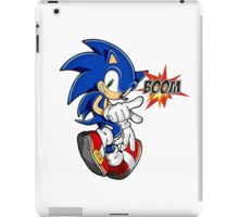 Sonic the boom hedgehog - on white iPad Case/Skin
