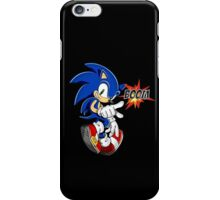 Sonic the boom hedgehog - on black iPhone Case/Skin