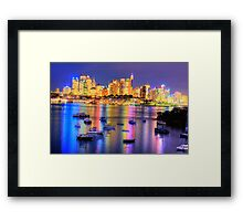 Did Someone  Remember to Turn  Off The Light ? -Moods of A City # 21, Sydney Australia Framed Print