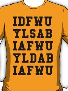 IDFWU Hook Black T-Shirt