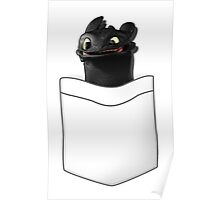 Toothless in your Pocket t shirt Poster