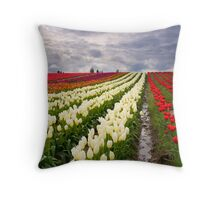 Storm over Tulips Throw Pillow