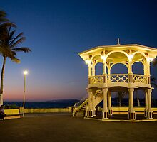 Muelle Turistico Gazebo Dusk - La Paz by Alan LeClair