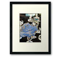 blue rose - rosa azul Framed Print
