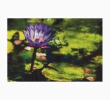 Waterlilies Impressions – Sunny Purple Pair Kids Clothes