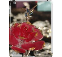 red rose - rosa roja iPad Case/Skin