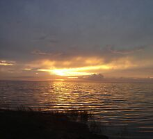 Sunset on the Sound by Hilary Boggs