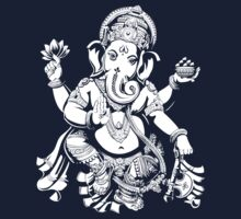 Lord Ganesh for dark colours by dipsmistry