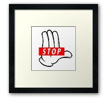 STOP ! Framed Print