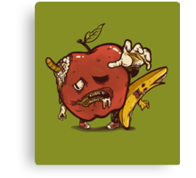 Zombies Fruits Canvas Print