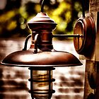 copper lamp by A.R. Williams