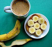 banana on peanut butter. by x99elledge