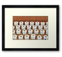 rusty typewriter Framed Print