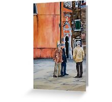 The Three Men of Burano Greeting Card