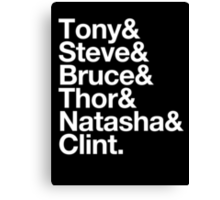 Helvetica- The Avengers Canvas Print