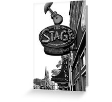 the Stage in Nashville, TN Greeting Card