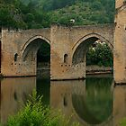 Medieval bridge, Cahors by William Mason