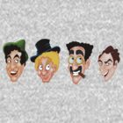 The Marx Brothers Faces  by DanDav