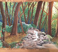 Cardboard Forest by SozoArtist