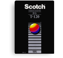 VHS Tape Scotch Canvas Print