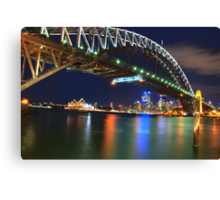 Icons - Moods Of A City #23 - The HDR Series , Sydney Harbour , Australia Canvas Print