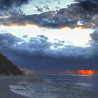 Passing Rain Storm - Hervey Bay Sunset by bidkev